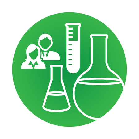 ancestry: Medical Healthcare Icon with People Charting Disease or Scientific Discovery