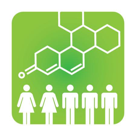 Medische icoon met People Charting ziekte of wetenschappelijke ontdekking Healthcare