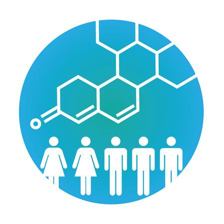 질병 또는 과학적 발견을 도표화하는 사람들과 의료 건강 관리 아이콘