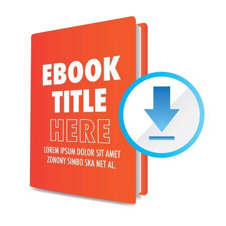 ホワイト ペーパーをダウンロードまたは交換可能なタイトル、カバー、およびアクションへの呼び出しに CTAs と電子ブック グラフィック ボタンし  イラスト・ベクター素材