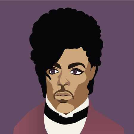 persona cantando: Prince Rogers Nelson Celebrity Caricatura Editorial Use Only