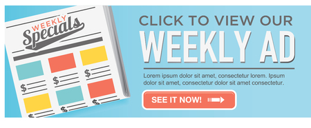 penny pinching: Download or View Our Online Weekly Sale Ad Flyer Circular CTA with Button and Call to Action