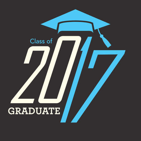 graduating seniors: 2017 Congrats or Congratulations Graduate Typography Intended for Graduating Seniors and the Class of 2017.  Graphic Can be Used for Invitations, Infographics, Tee shirt Designs, Etc. Illustration