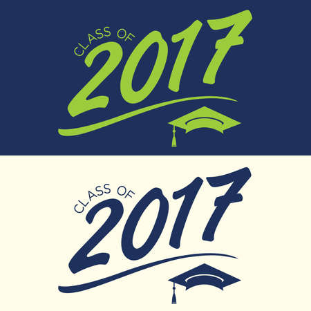 tee shirt: 2017 Congrats or Congratulations Graduate Typography Intended for Graduating Seniors and the Class of 2017.  Graphic Can be Used for Invitations, Infographics, Tee shirt Designs, Etc. Illustration