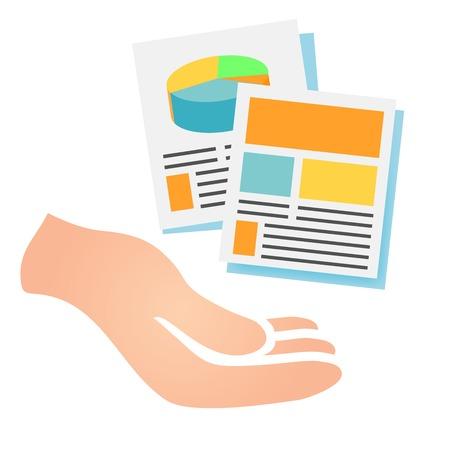 Marketing Company digitale producten Pictogrammen met Collateral en verpakkingsdozen Stock Illustratie