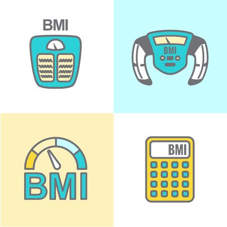 Bmi 値や体の質量指数アイコン