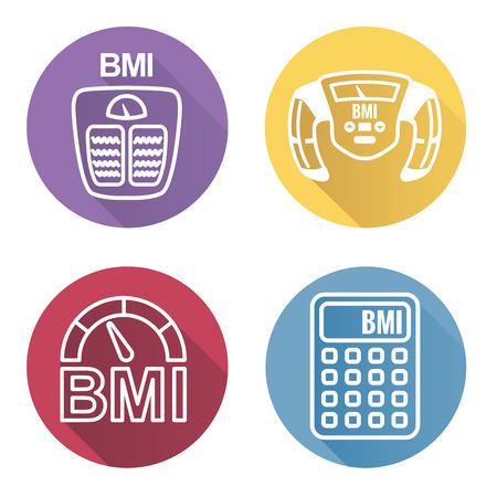 IMC o índice de masa corporal Iconos
