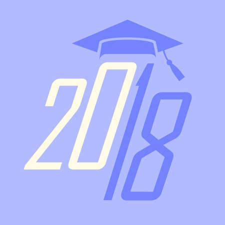 graduating: 2018 Congrats or Congratulations Graduate Typography Intended for Graduating Seniors and the Class of 2018