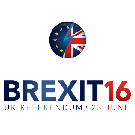 Referéndum BREXIT Reino Unido Vector Graphic Header Foto de archivo - 58839048