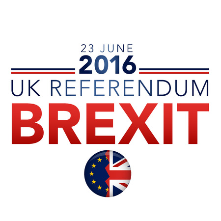 referendum: BREXIT UK Referendum Vector Graphic Header