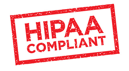 compliant: HIPAA Compliance Icon Graphic Rubber Stamp Illustration