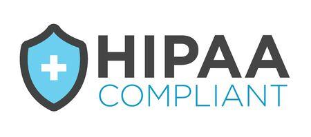 HIPAA Compliance Icon Graphic Vettoriali