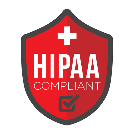 HIPAA Compliance Icon Graphic Stock Illustratie