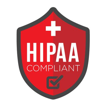HIPAA Icon Grafik Standard-Bild - 59342034