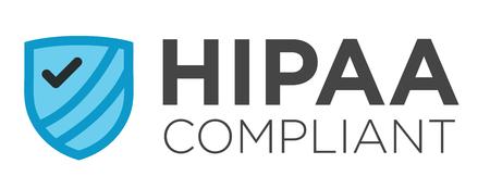 HIPAA Compliance Icon Graphic Illusztráció