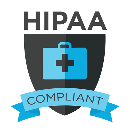 confidentiality: HIPAA Compliance Icon Graphic Illustration
