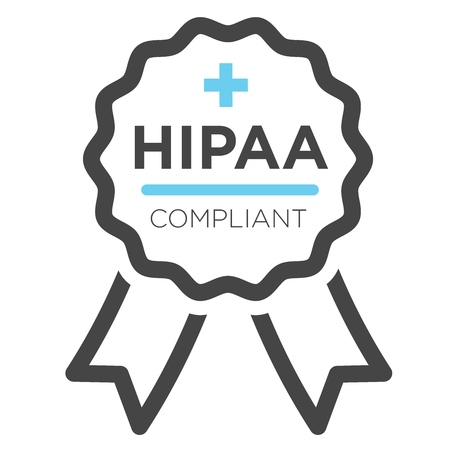 HIPAA Compliance Icon Graphic  イラスト・ベクター素材