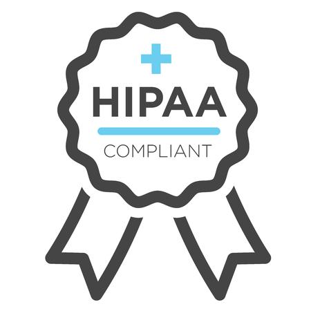 HIPAA Icon Grafik Standard-Bild - 59342046