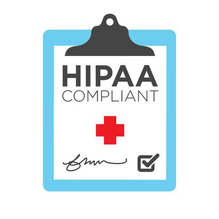 HIPAA 준수 아이콘 그래픽 일러스트