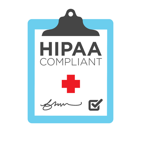compliant: HIPAA Compliance Icon Graphic Illustration
