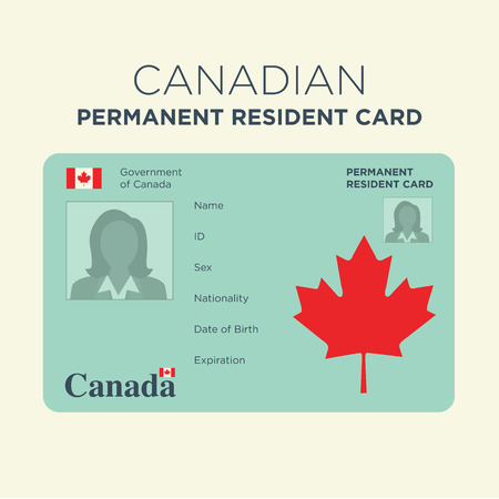 Canadian Naturalization Card 版權商用圖片 - 59689507
