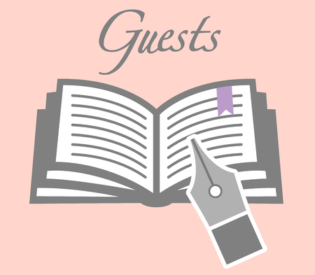 guest: Guest Book with Pen Illustration