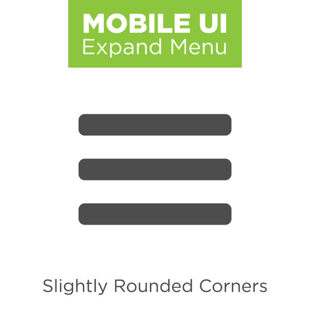 web element: Flat Menu Icon Illustration for Website Navigation
