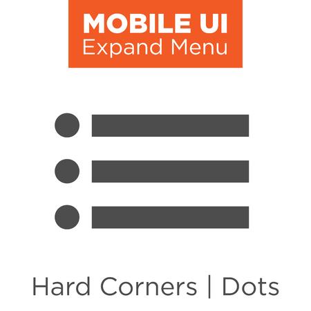 mobile website: Flat Menu Icon Illustration for Website Navigation