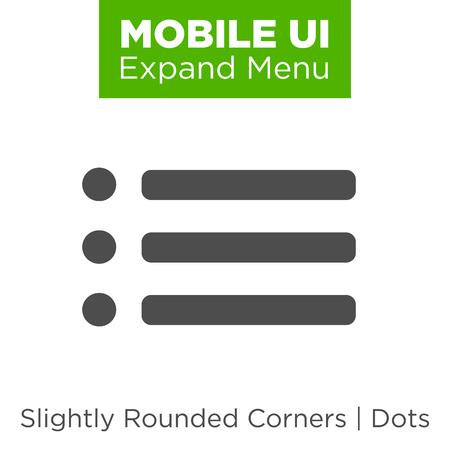 nav: Flat Menu Icon Illustration for Website Navigation