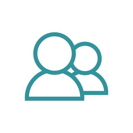 Standard User Icon Set met mannen, vrouwen, en meerdere mensen
