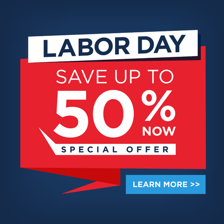 Labor Day Super Sale Sign Call to Action