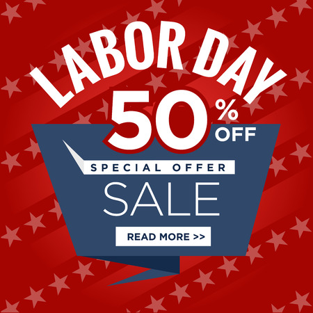 labor market: Labor Day Super Sale Sign Call to Action