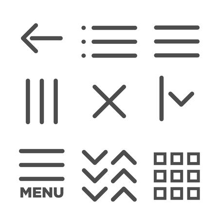 user friendly: Flat Menu Icon Illustration for Website Navigation
