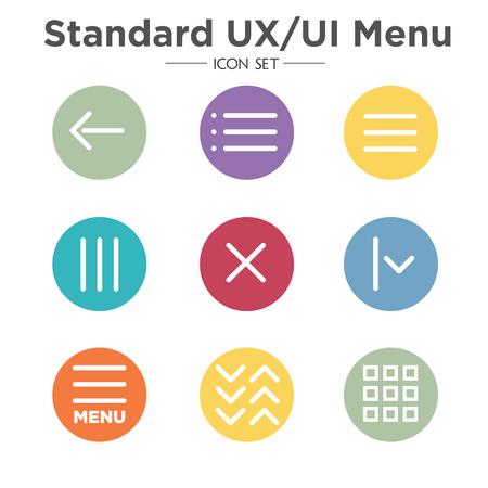Flat Menu Icon Illustratie voor Website Navigatie Vector Illustratie