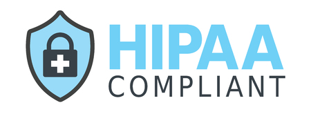 compliance: HIPAA Compliance Icon Graphic with Medical Security Symbol