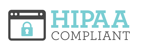 data protection act: HIPAA Compliance Icon Graphic with Medical Security Symbol