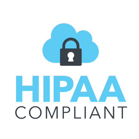 portability: HIPAA Compliance Icon Graphic with Medical Security Symbol