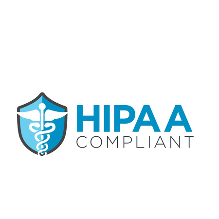 HIPAA Compliance Icon Graphic with Medical Security Symbol 免版税图像 - 62160247