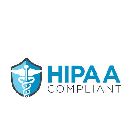 HIPAA Icon-Grafik mit Medical Sicherheit Symbol Standard-Bild - 62160247