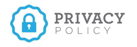 Datenschutz Banner oder Abzeichen für die Website
