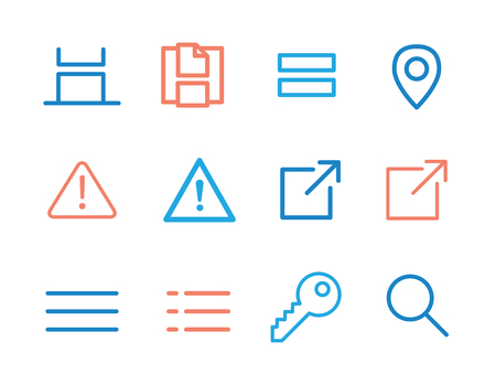 nav: Scroll, Grid View, Error, and Location App Icons