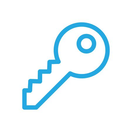 adjustable: Security Key Icon Adjustable Stroke Illustration