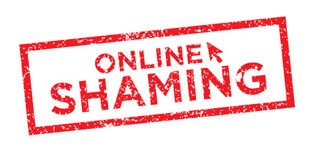 shaming: Online or Public Shaming Graphic