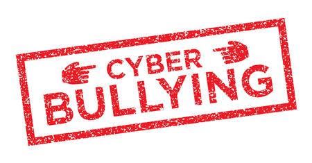 Cyber ??Bullying Grafik Stamp Vektorgrafik