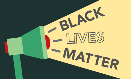equal opportunity: Black Lives Matter Illustration with Megaphone