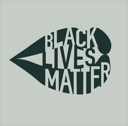 Black Lives Matter Illustration with Lips and Typography Illustration