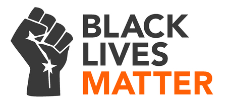 equal opportunity: Black Lives Matter Illustration with Strong Fist