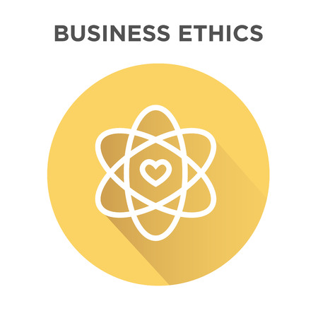 Business Ethics Icon in Circle with Heart