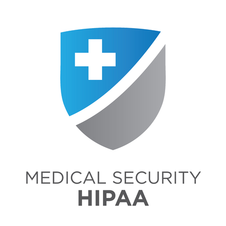 compliance: HIPAA Compliance Icon Graphic For Medical Document Security