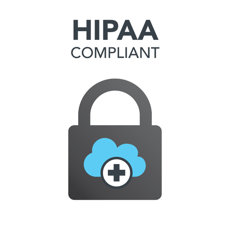 HIPAA Compliance Icon Graphic Voor Medische Document Security